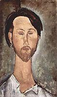 Portrait of the Polish Poet and Art Dealer Leopold Zborovski, 1918, modigliani