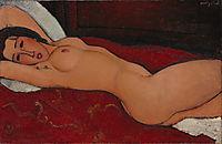 Reclining nude, 1917, modigliani