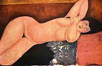 Reclining nude, c.1917, modigliani