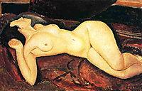 Recumbent nude, 1917, modigliani