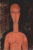 A red bust, modigliani