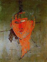 The Red Head, c.1915, modigliani