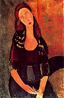 Seated Jeanne Hebuterne, 1918, modigliani
