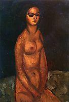 Seated nude, 1908, modigliani