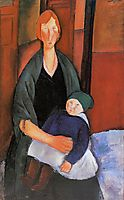 Seated Woman with Child (Motherhood), 1919, modigliani