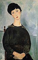 Seated Young Woman, 1918, modigliani