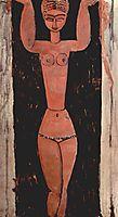 Standing Caryatid, 1913, modigliani
