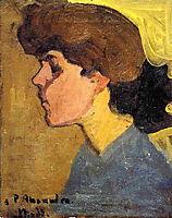 Woman-s Head in Profile, 1907, modigliani