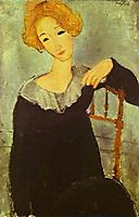 Woman with red hair, 1917, modigliani