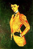 Woman in yellow jacket (Amazon), 1909, modigliani