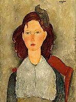 Young Girl Seated, 1918, modigliani