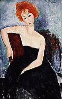 Young Redhead in an Evening Dress, 1918, modigliani