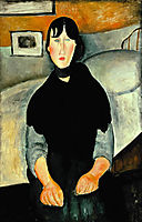 Young Woman of the People, 1918, modigliani