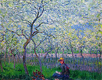 An Orchard in Spring, 1886, monet