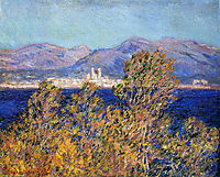 Antibes Seen from the Cape, Mistral Wind, 1888, monet