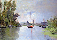 Argenteuil Seen from the Small Arm of the Seine, 1872, monet