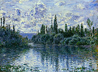 Arm of the Seine near Vetheuil, 1878, monet