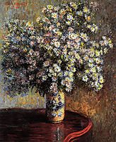Asters, 1880, monet
