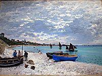The beach at Sainte-Adresse, Grey Weather, 1867, monet