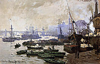 Boats in the Pool of London, 1871, monet
