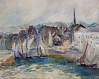 Boats in the Port of Honfleur, 1917, monet
