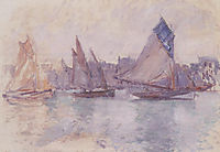 Boats in the Port of Le Havre, 1883, monet