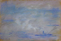 Boats on the Thames, Fog Effect, 1901, monet