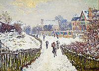 Boulevard Saint-Denis, Argenteuil, in Winter, 1875, monet