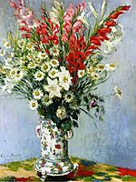 Bouquet of Gadiolas, Lilies and Dasies, 1878, monet