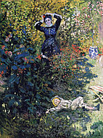 Camille and Jean Monet in the Garden at Argenteuil, 1873, monet