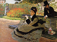 Camille Monet on a Garden Bench, 1873, monet