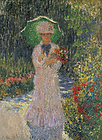 Camille with Green Parasol, 1876, monet