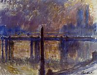 Charing Cross Bridge, Cleopatra-s Needle, 1901, monet