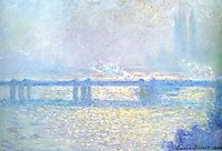 Charing Cross Bridge, Overcast Weather, 1900, monet