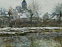 The Church at Vetheuil under Snow, 1879, monet