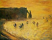 The Cliffs at Etretat, 1886, monet
