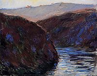 The Creuse Valley, Evening Effect, 1889, monet