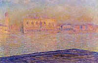 The Doges- Palace Seen from San Giorgio Maggiore, 1908, monet