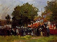 Festival at Argenteuil, 1872, monet