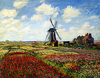 A Field of Tulips in Holland, 1886, monet