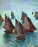 Fishing Boats, Calm Sea, 1868, monet