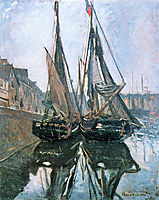 Fishing Boats at Honfleur, 1868, monet