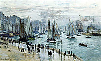 Fishing Boats Leaving the Harbor(Le Havre), 1874, monet