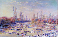 Floating Ice on the Seine, 1880, monet