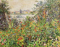 Flowers at Vetheuil, 1881, monet