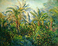Garden in Bordighera, Impression of Morning, 1884, monet