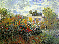 The Garden of Monet at Argenteuil, 1873, monet