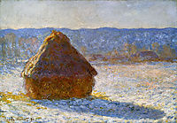Grainstack in the Morning, Snow Effect, 1891, monet