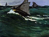 The Green Wave, 1866, monet