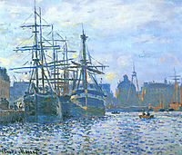 The Havre, the trade bassin, 1874, monet